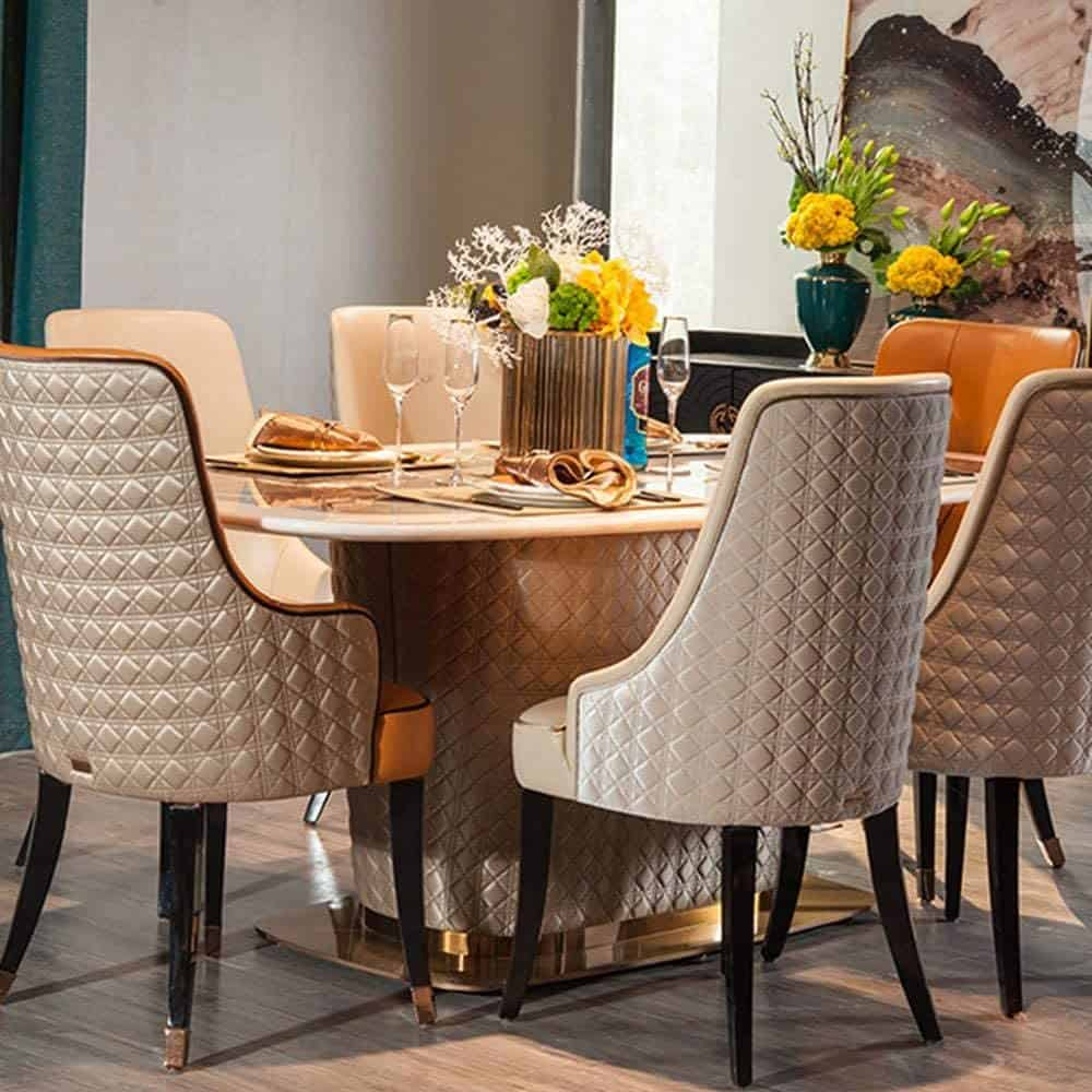 Luxury Upholstered Dining Chair
