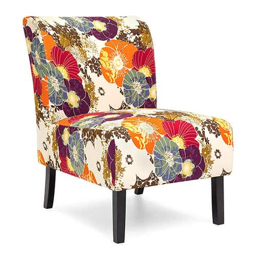 Upholstered Armless Accent Chair