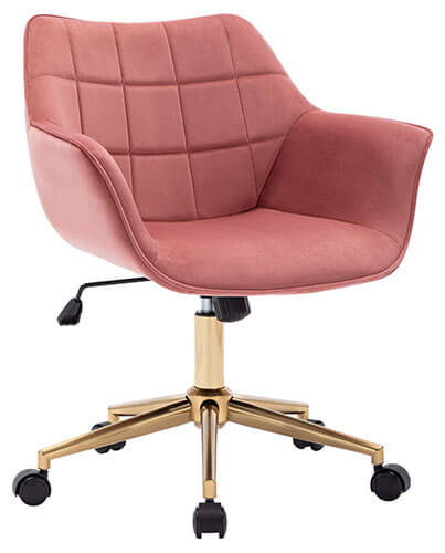 Duhome Pink And Gold Desk Chair