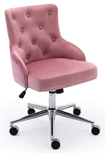 Pink Tufted Desk Chair
